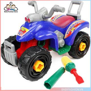 [0620]Assembled Toys Jigsaw Building Block Beach Motorcycle Kids Educational Toys