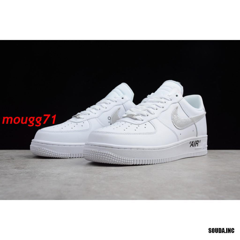 Nike Air Force 1 OFF WHITE x Supreme x CDG รองเท้าผ้าใบแฟชั่น Unisex