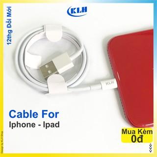 Cáp sạc Iphone ipad Foxconn siêu bền cho IP 5 6 7 8 X 11 dây dài 1m vào điện nhanh không kén máy KLH 3i 1