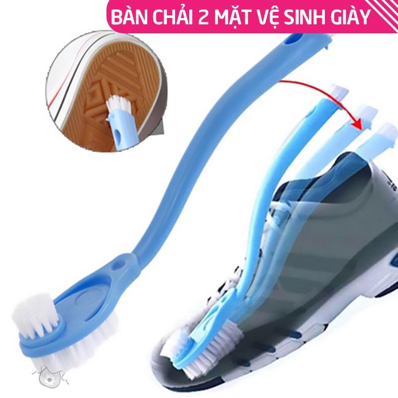 Bàn chải chà giày chuyên dụng, bàn chải 2 mặt trên dưới chà giày sạch sẽ,  có đuôi bàn chải làm sạch các khe rãnh HL148 | Shopee Việt Nam