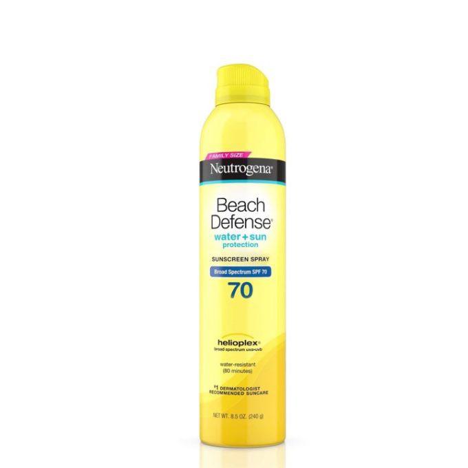 NEUTROGENA - Xịt chống nắng Beach Defense Water + Sun Protection Sunscreen Spray Broad Spectrum SPF 70 240g