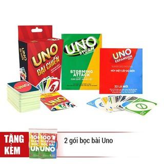 Combo Uno đại chiến + 2 bản mở rộng + 2 xấp bọc bài