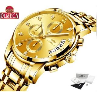 Đồng hồ Olmeca nam 6 kim chạy Japan 0827 (full vàng)