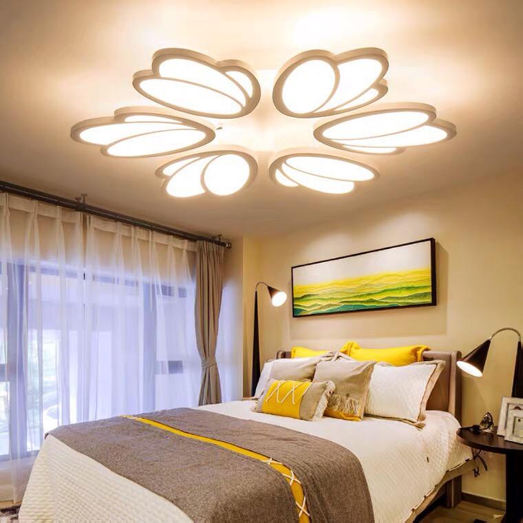 Đèn Ốp Trần Trang Trí - Áp Trần Phòng Khách - Đèn Âm Trần Gồm 3 Chế Độ Ánh Sáng Có Điều Khiển Từ Xa