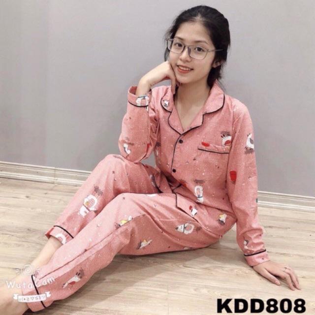 Bộ pijama quần dài áo dài tay cho nữ