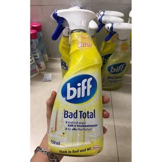 """( HÀNG NỘI ĐỊA ĐỨC CÓ BILL )Nước tẩy rửa- vệ sinh nhà tắm """"thần thánh' Biff Bad total – Hương chanh thơm mát"""