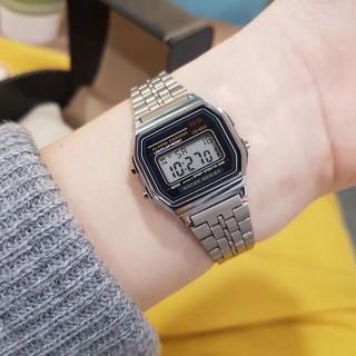 Đồng hồ điện tử đôi nam nữ WR chống nước tuyệt đối mặt vuông nhiều màu sang trọng cho công sở chính hãng thumbnail