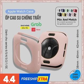 Ốp Bảo Vệ Mặt Đồng Hồ Thông Minh Apple Watch Series SE/6/5/4/3/2/1 Bằng Silicone Full Size 38/40/42/44mm - ChinChin Case