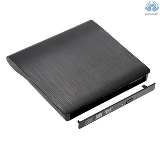 【enew】Ultra Slim Portable USB 3.0 SATA 12.7mm External Optical Disk Drive Case Box for PC Laptop Notebook