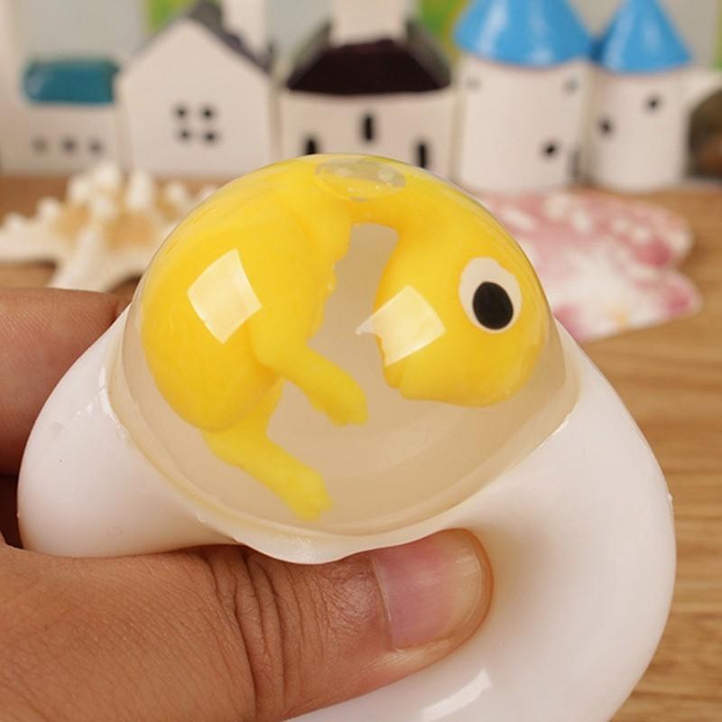 Đồ Chơi Mềm Dẻo Giảm Stress Hình Trứng Khủng Long Dễ Thương|Loamini565
