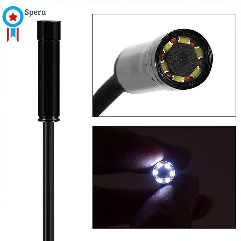 Portable 1M 7MM 3in1 USB Type-C 6LED 0.3MP Android Endoscope Borescope Mini Cameras Micro Camera For Android Windows