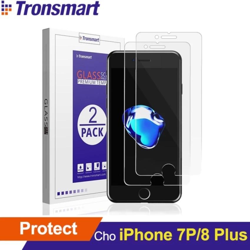 Bộ 2 Kính cường lực TRONSMART GPi7P bảo vệ màn hình cho iPhone 7 Plus/8 Plus - Hãng phân phối chính