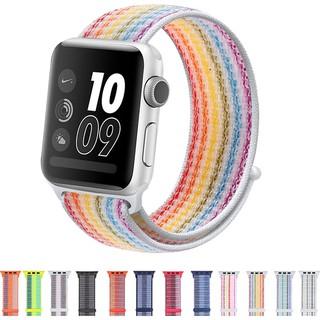 Dây đeo Apple Watch Strap 38/40mm 42/44mm Vòng nylon dệt cho iWatch Series SE 6/5/4/3/2/1