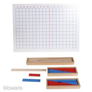 Wooden Montessori Mathematics Material – Addition & Subtraction Strip Board