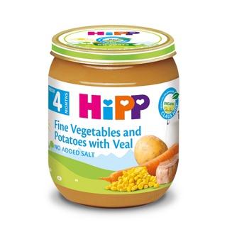 Dinh dưỡng đóng lọ HiPP Thịt bê, khoai tây, rau tổng hợp