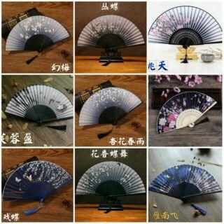 [Hàng có sẵn]Quạt xếp coslay cổ trang Trung Quốc sang trọng giá rẻ.