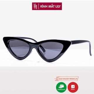 Kính mát nữ Lilyeyewear mắt mèo chống UV400 , kiểu dáng thời trang màu sắc cơ bản  3265