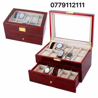 hộp gỗ đựng đồng hồ 20 chiếc