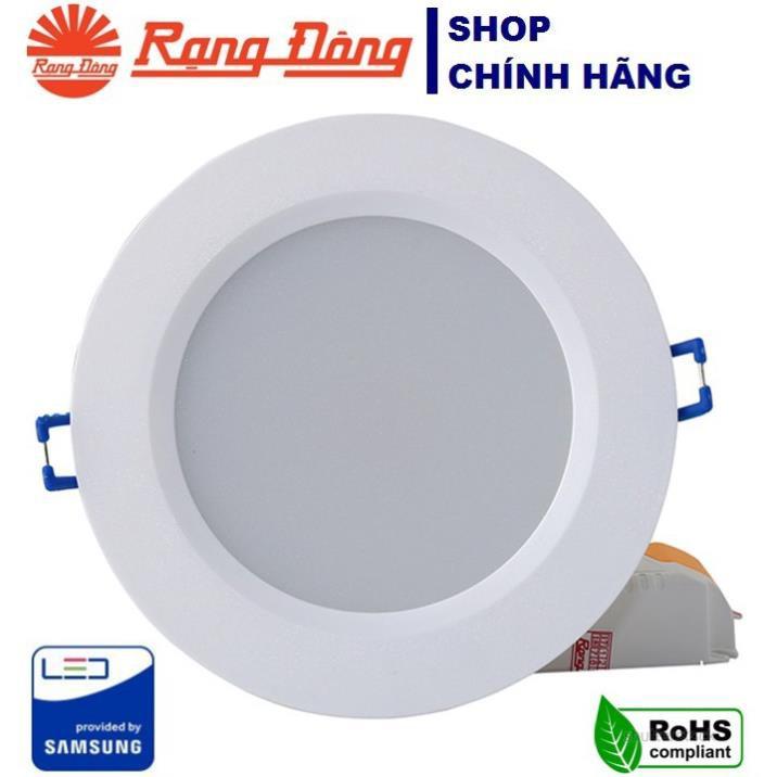Đèn LED Âm Trần Downlight Rạng Đông D AT06L 90/7W -Trắng/Vàng LED SS
