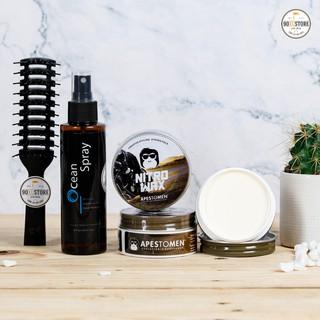 [Chính Hãng] [COMBO] Sáp Vuốt Tóc Nitro Wax + Xịt tạo phồng Ocean spray
