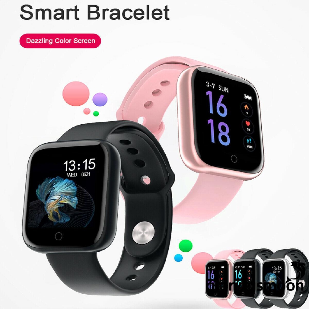 ❧EJY❧Bluetooth Smart Watch Heart Rate Oxygen Blood Pressure Sport Fitness Tracker