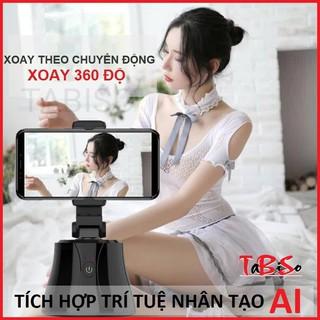 Đế Chụp Hình AI Tự Xoay 360 độ theo chuyển động – Chân giá đỡ kẹp ốp điện thoại livestream – gậy tự sướng TABISO