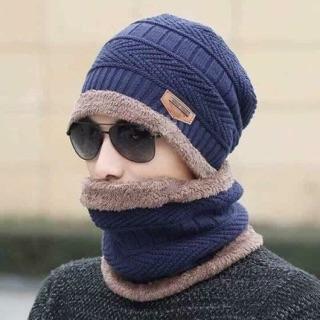 Set khăn mũ Nam lót lông siêu ấm -siêu đẹp