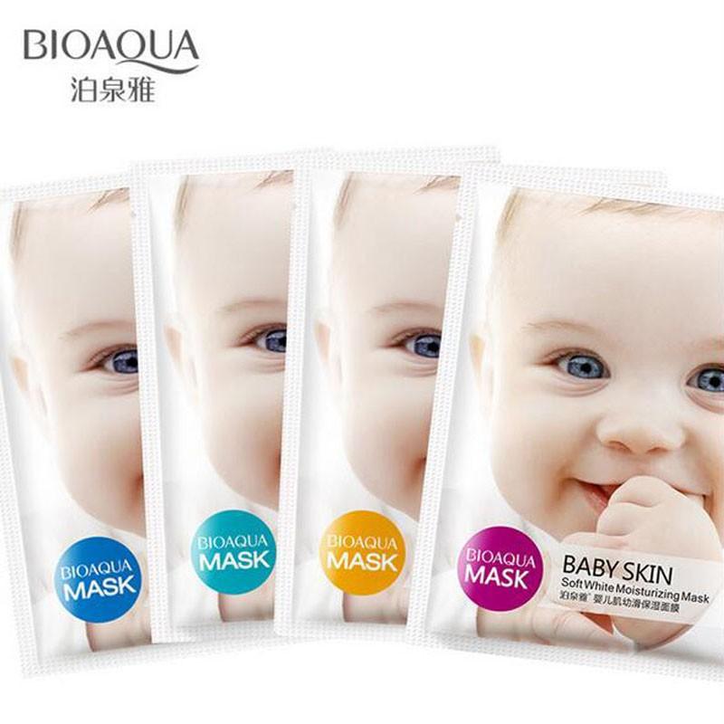 Lẻ 1 miếng mặt nạ Baby skin Bioaqua đủ màu