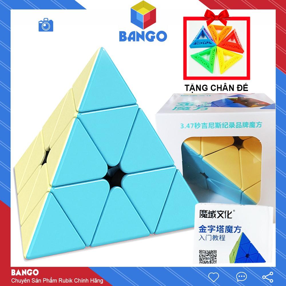 Rubik Tam Giác Pyraminx Moyu Meilong Macaron Magic Cube 3×3 Đồ Chơi Thông Minh Rubic BANGO RM01