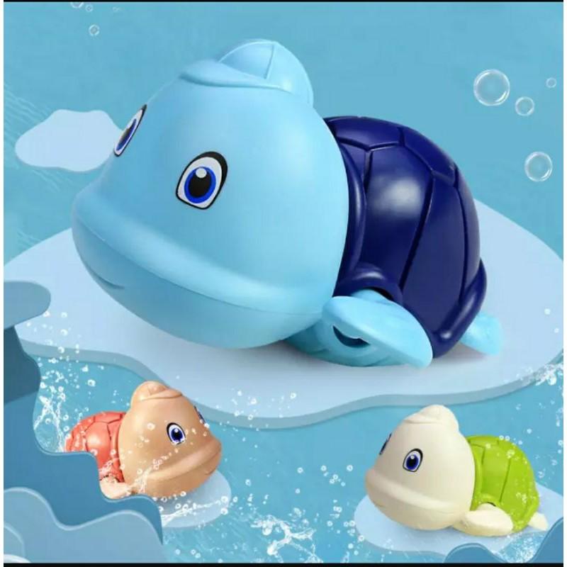 Đồ chơi nhà tắm – rùa bơi đội mũ vặn cót (bé thích tắm