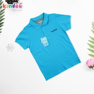 Áo polo ngắn tay bé trai KANDOO màu xanh, thoải mái hoạt động, 100% cotton cao cấp mềm mịn, thoáng mát - DBPS1724
