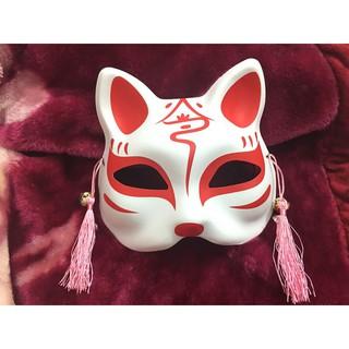 (M466) Mặt Nạ Vẽ Mèo đỏ ( có ảnh thật kèm video ) càng mua càng rẻ