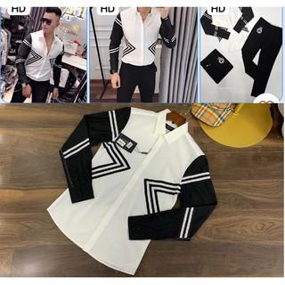 Sơ mi cao cấp phong cách Hàn Quốc đẹp nam tính mới-Áo Sơ mi nam dài tay vải lụa cotton siêu mát vải lụa cotton
