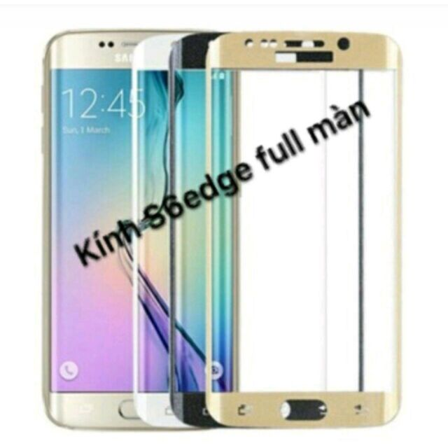 Kính cường lực 4D Galaxy S6 Edge - Full màn hình