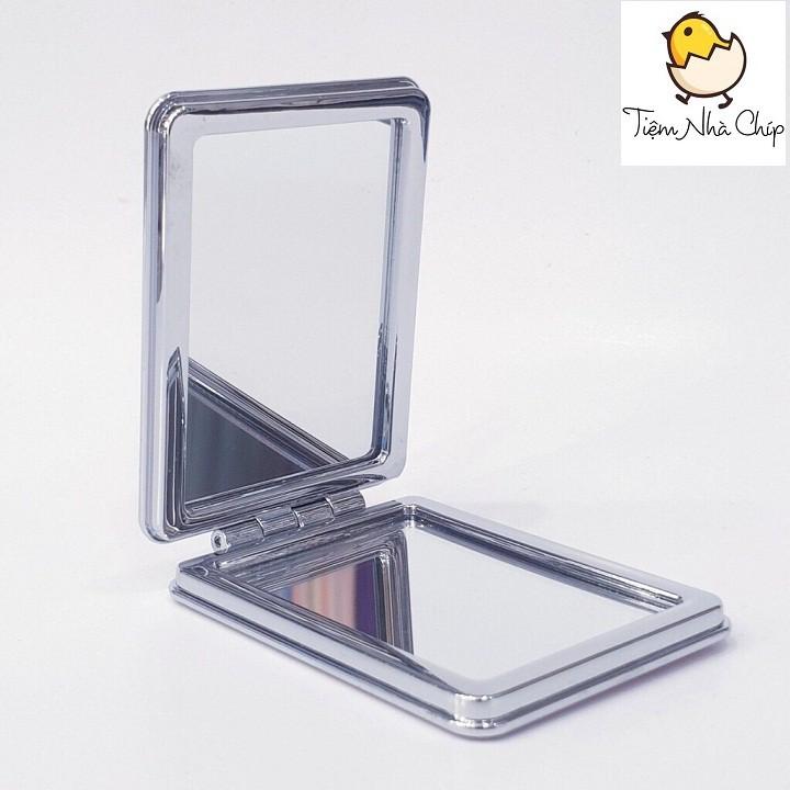 🐣 Gương mini 2 mặt bỏ túi vỏ nước kim tuyến cao cấp, sang trọng