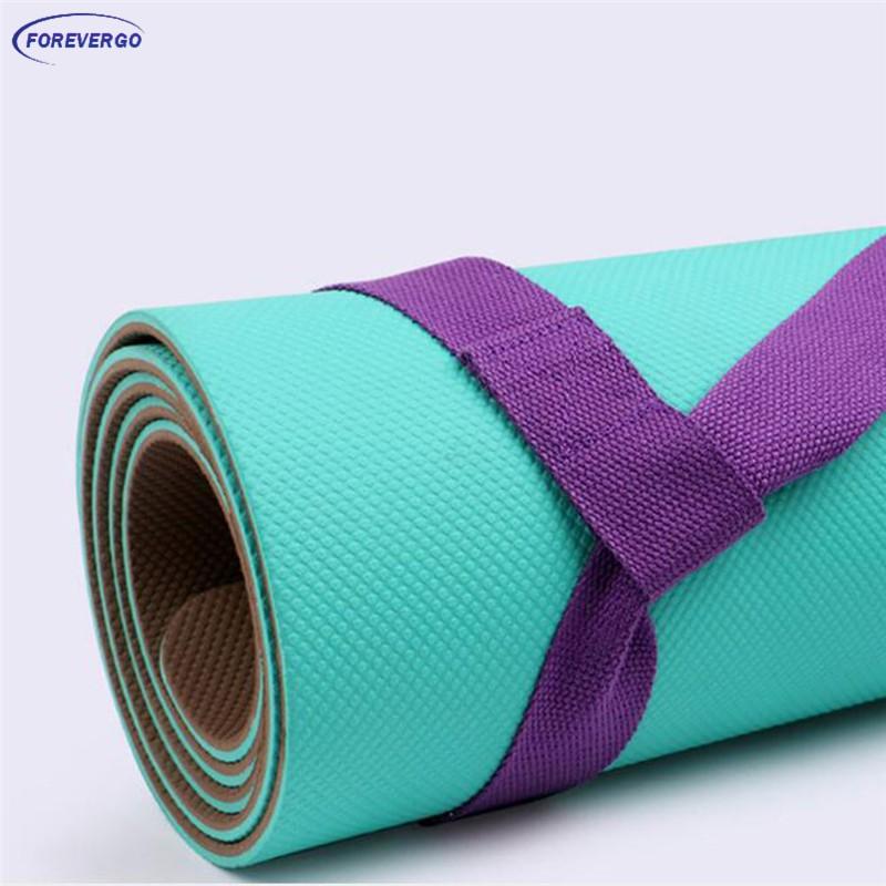 Dây Đeo Thảm Yoga Bằng Cotton Co Giãn Có Thể Điều Chỉnh