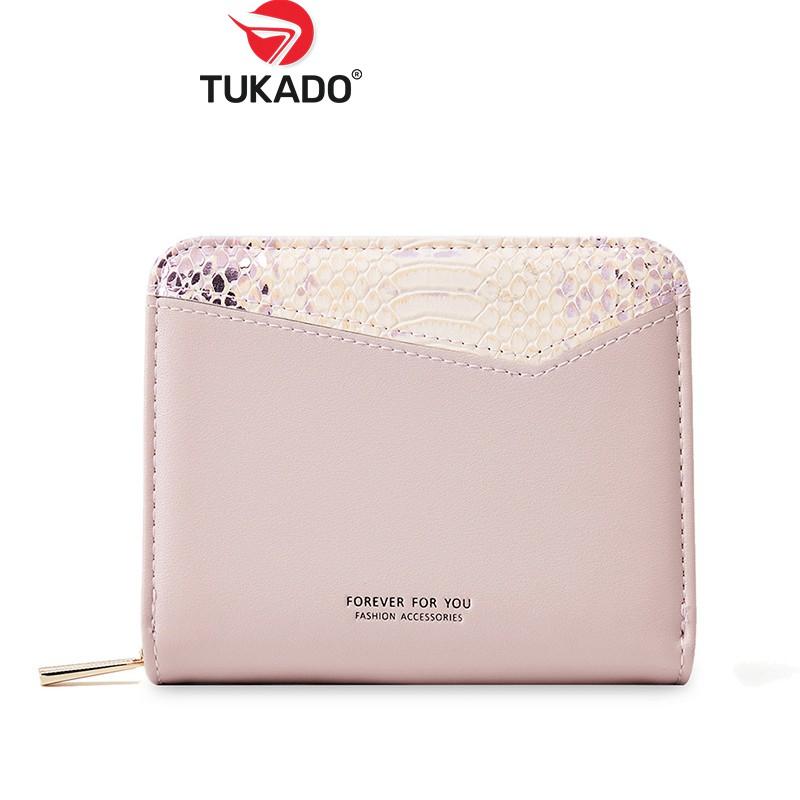 Ví Ngắn Nữ Mini Cầm Tay 𝐅𝐎𝐑𝐄𝐕𝐄𝐑 𝐅𝐎𝐑 𝐘𝐎𝐔 Dáng Vuông Phối Màu Vintage Cực Xinh FFY14 - Tukado
