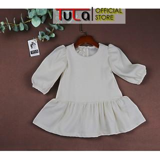 Váy Đầm Bé Gái Vải Dạ 2 Lớp Thiết Kế Thu Đông Cho Bé
