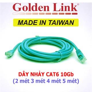(Đài Loan) Dây nhảy cáp mạng GoldenLink Taiwan CAT6 10Gbps Gigabit LAN BootRom CCTV Camera PoE từ 2 -5 mét thumbnail