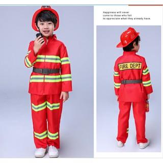 Trang phục lính cứu hoả cho bé