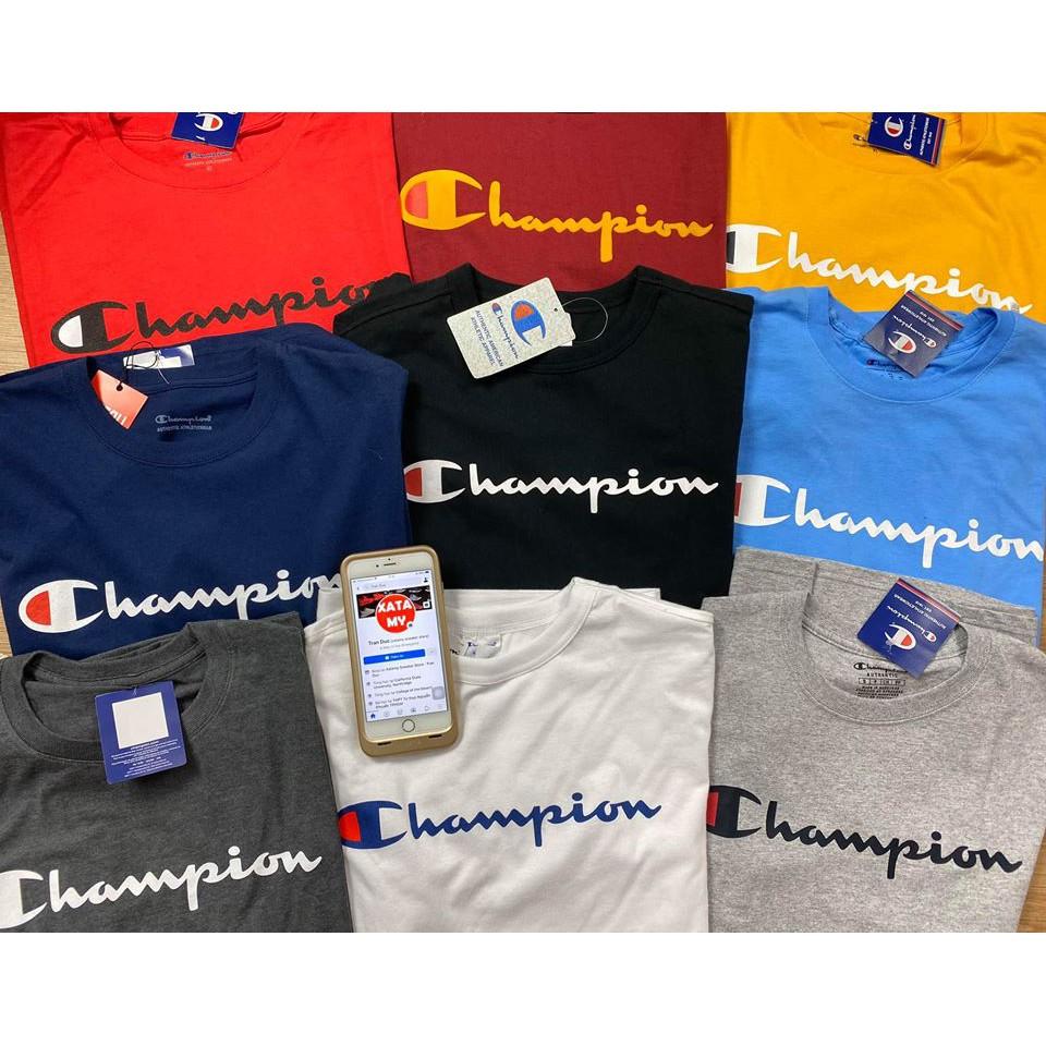 áo Champion Logo trước ngực ngắn tay hàng chính hãng