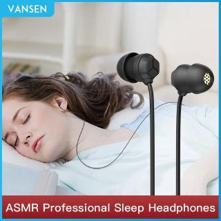 VANSEN Wired Headphones Sleep Earphones Ultra-soft Sleep Earplugs Noise Reduction Anti-noise Side Sleep High Sound Quality Silicone Soft Plug Headset