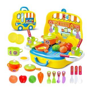 Đồ chơi nấu ăn hình ô tô Toys House 008-915 bếp đồ chơi cho bé đồ chơi cho bé trai, bé gái tiêu chuẩn Châu Âu thumbnail