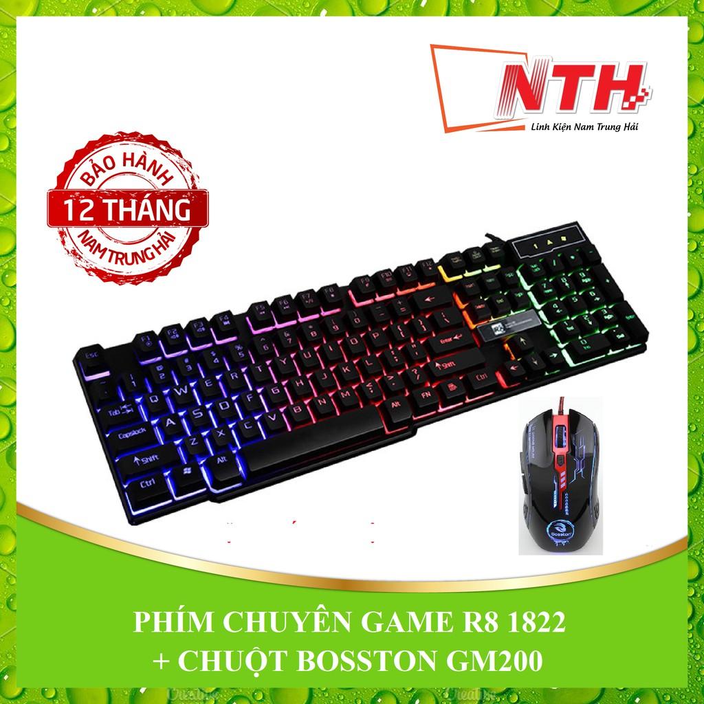 [NTH] COMBO PHÍM R8 1822 + CHUỘT BOSSTON GM200