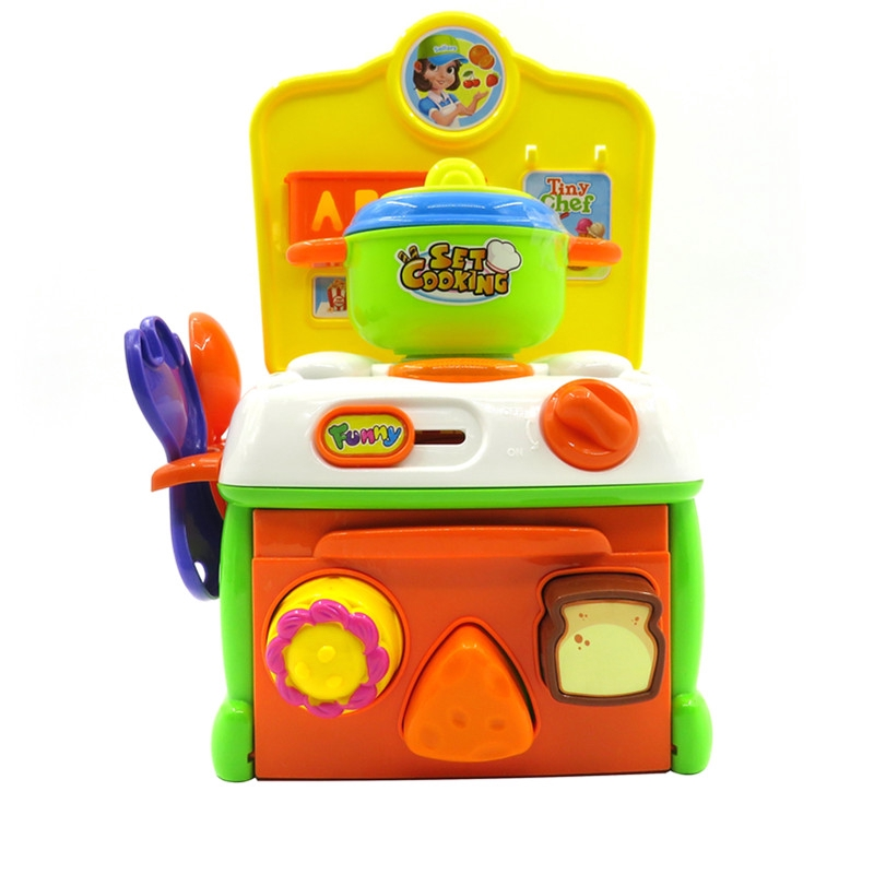 Flytec Pretend Play Toy Baby Super Cute Simulation Kitchen Breakfast Cooking Toy