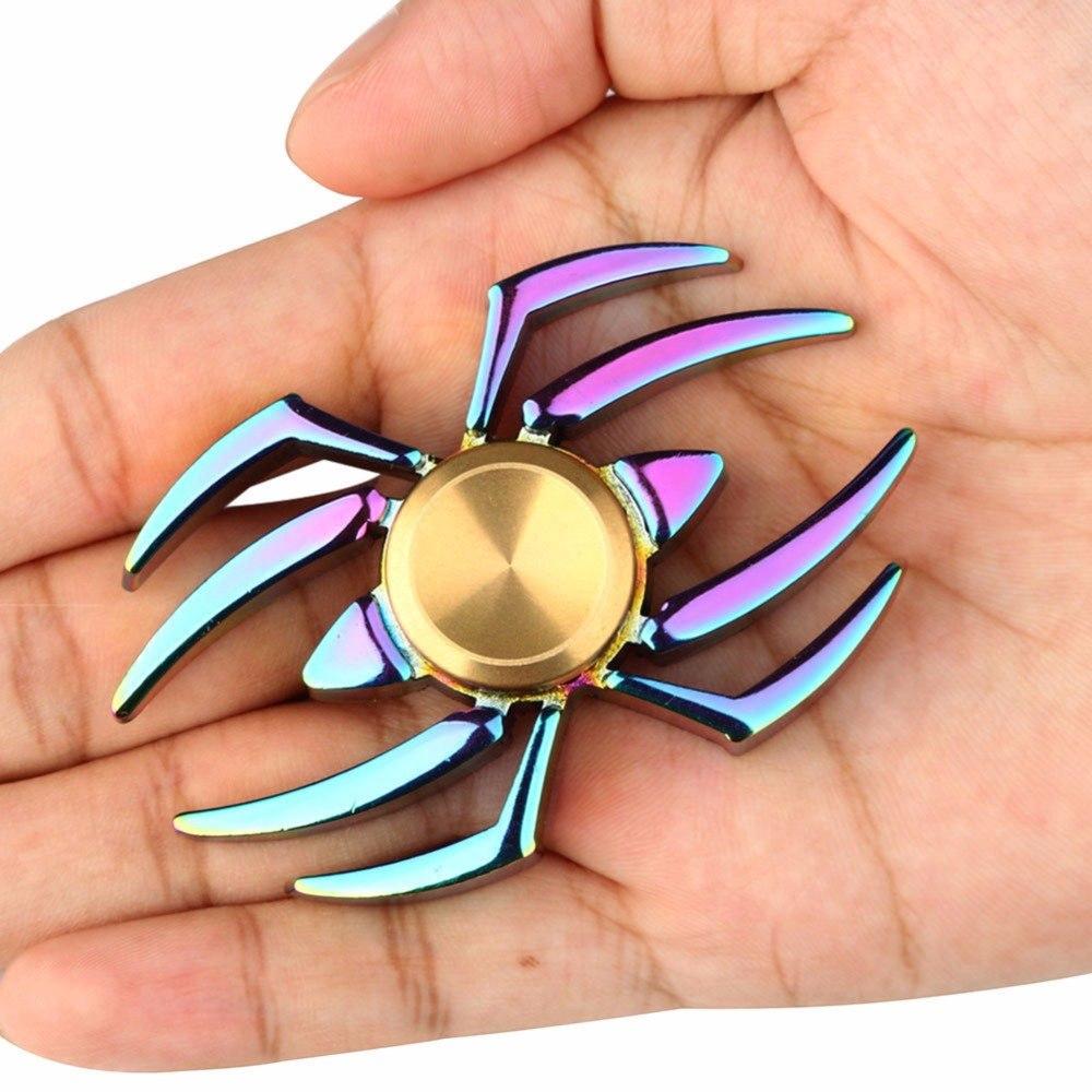 Con quay đồ chơi fidget spinner cầu vồng EDC ADHD hình nhện cầu vồng