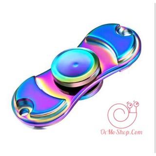 Con quay Finger Spinner 2 cánh cân bằng phản quang kim loại