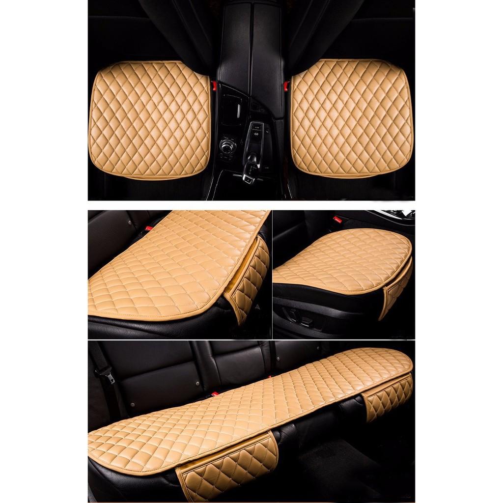 Bộ lót ghế ô tô, xe hơi chất liệu da cao cấp mẫu 3