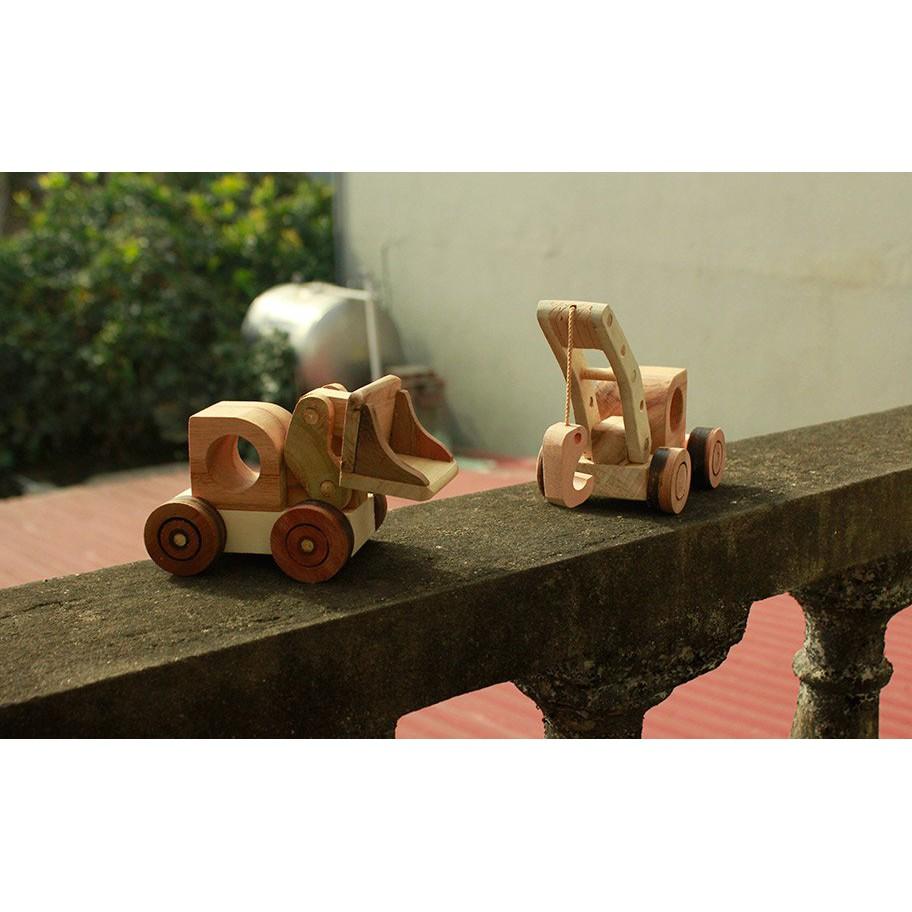 Đồ chơi gỗ phát triển trí tuệ Combo 2 Món: Máy Ủi Và Máy Móc Đồ Chơi Bằng Gỗ