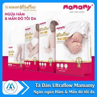 Tã Bỉm Mamamy Ultraflow - Tã dán ngừa hăm và mẩn đỏ tối đa Size S54-M46-L42-XL36.